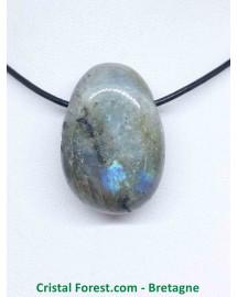 Labradorite - Pendentifs pierres percées