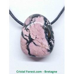 Rhodonite - Pendentif pierre percée