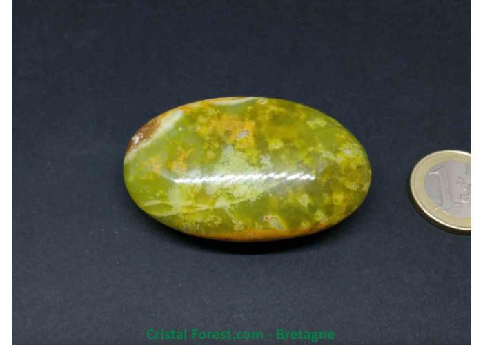 Opale verte AA - Galets - 5.7 x 3.6 x 2cm / 46,70gr