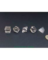 Set des 5 solides de Platon - Cristal de roche