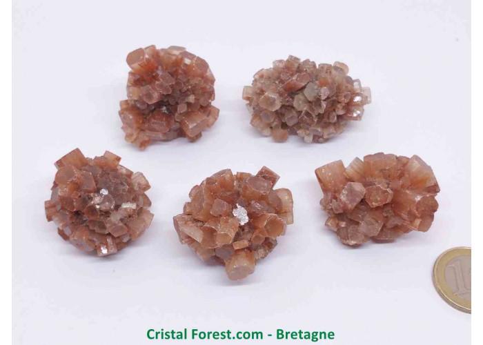 Aragonite - Pierres brutes cristalisées - 2.5 à 3.5 cm / 20 à 39gr