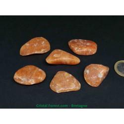 Calcite orange - Pierres roulées