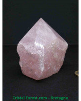 Quartz Rose - Pointe semie polie