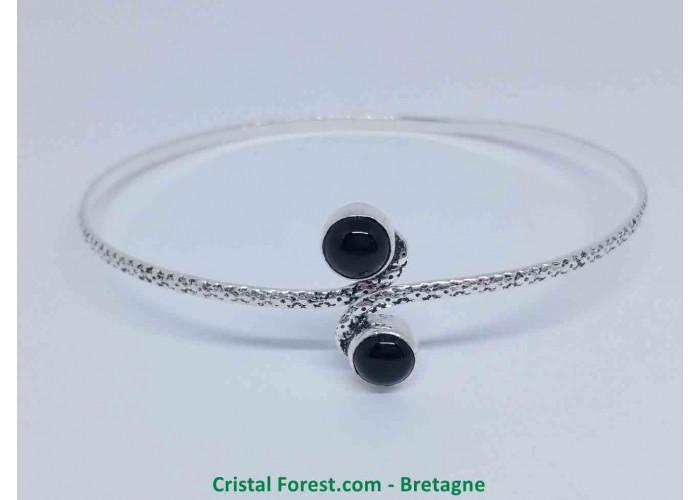 Tourmaline noire - Bracelet Plaqué Argent