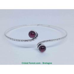 Grenat pyrope (rouge) - Bracelets plaqué Argent