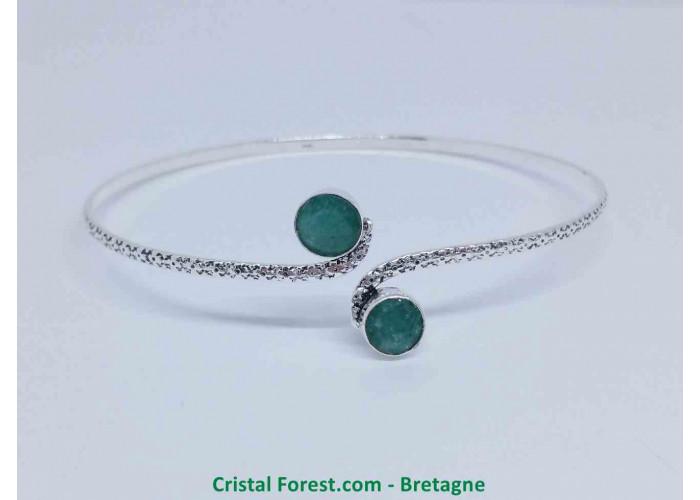 Diopside Verte  Bracelet plaqué Argent