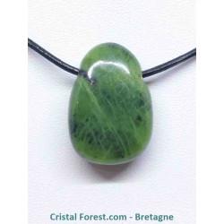 Jade Néphrite - Pendentif pierre percée
