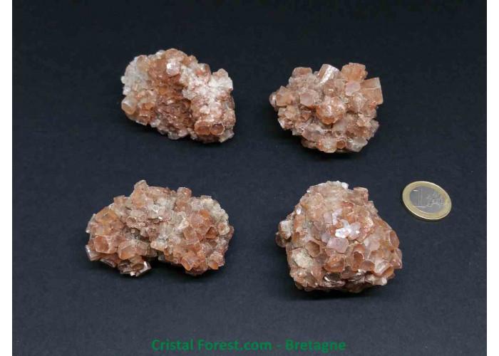 Aragonite - Pierres brutes cristalisées - 4.7 à 6.7cm / 80 à 130gr