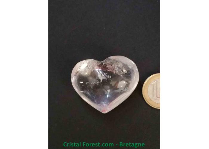 Cristal de roche - Coeur AA - 3.5 x 4.1 x 2.4cm / 42,20gr