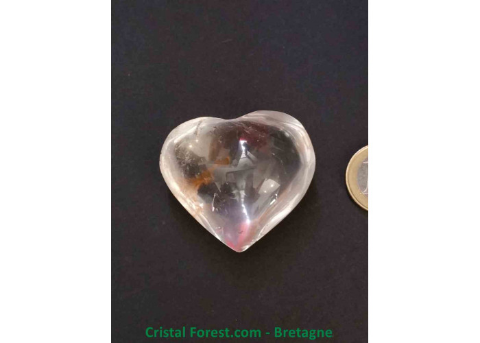 Cristal de roche - Coeur AA - 4.2 x 4.7 x 2.7cm / 62,00gr