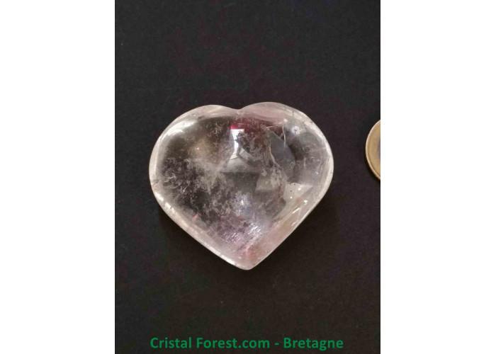 Cristal de roche - Coeur AA - 4.4 x 4.9 x 2.5cm / 64,10gr