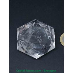 Cristal de roche AAA -  Sceau de Salomon Grand modèle (hexagramme)