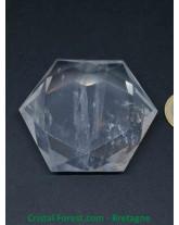 Cristal de roche -  Sceau de Salomon Grand modèle (hexagramme)