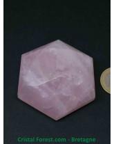 Sceau de Salomon Quartz rose - 5,6 cm