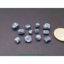 Saphir bleu cristallisé - Pierre précieuse brute