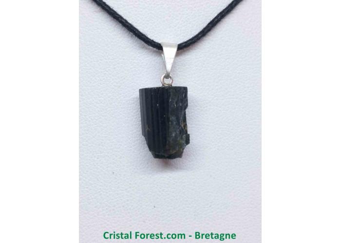 Tourmaline noire - Pendentif Pierre Brute - 1.2 à 1.5cm