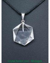 Pendentif Salomon - Cristal de roche 3cm