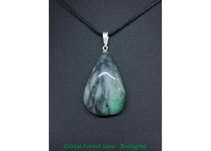 Emeraude (béryl vert) - Pendentif Belière - 2.4 à 3.4cm