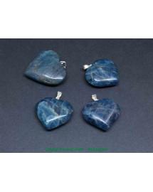 Apatite bleue - Pendentif Coeur