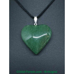 Aventurine verte - Pendentif Coeur