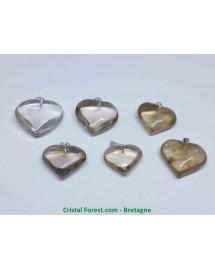 Citrine Naturelle - Pendentif Coeur
