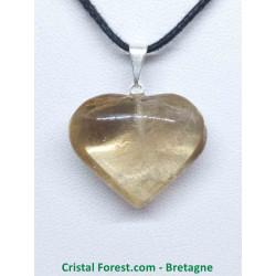Citrine Naturelle Extra AAA - Pendentif Coeur