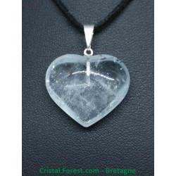 Topaze Bleue AA - Pendentif Coeur