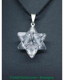 Pendentif Merkabah Cristal de roche 2cm