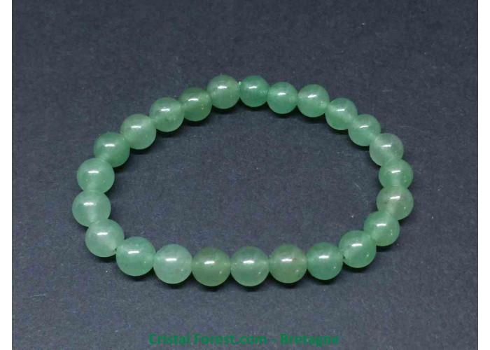 Aventurine verte - Bracelet Boules 6mm - Taille Enfant - Longueur 13cm - Boules de 6mm
