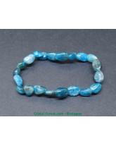 Apatite Bleue extra - Bracelet Grains