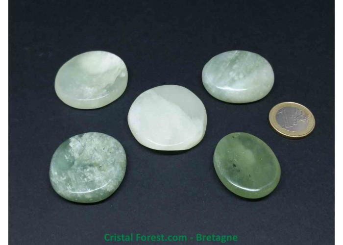Jade de Chine / Serpentine  - Galet et pierre plate - 3.5 à 4cm / 15 à 28gr