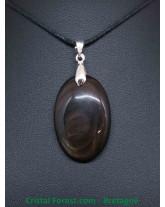 Obsidienne Oeil Celeste d'Afrique - Pendentif Bélière