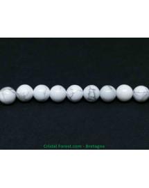 Howlite naturelle - Fil de perles