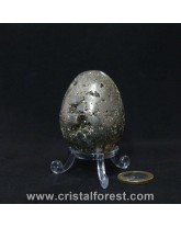 Oeuf Pyrite de fer 5,6cm