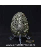 Oeuf Pyrite de fer 7cm