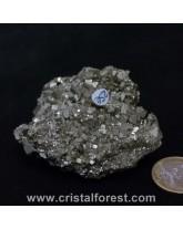 Druse (amas)  Pyrite de fer 6,5cm
