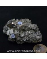 Druse (amas) Pyrite de fer 7,5cm