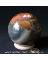 Sphère Jaspe imprimé polychrome - 8,8 cm