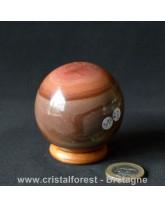 Sphère Jaspe imprimé polychrome - 5,7 cm