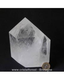 Pointe Cristal de roche 14 cm - 1,76 kg