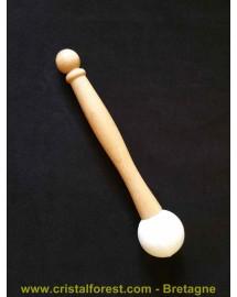 Mailloche diam. 4cm pour bol chantant de cristal