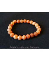 Bracelet boule - Aventurine orange