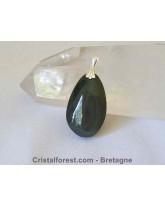 Pendentif d'obsidienne Oeil céleste + argent
