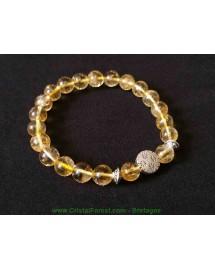 Bracelet boule - citrine extra
