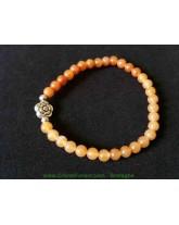 Bracelet boule - Cornaline orange