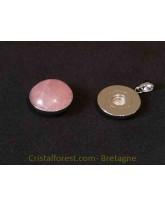 Bijoux interchangeable avec clips - Quartz rose