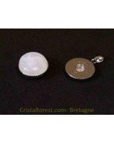Bijoux interchangeable avec clips - Pierre de lune arc en ciel