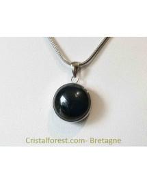 Bijoux interchangeable avec clips -Obsidienne oeil céleste