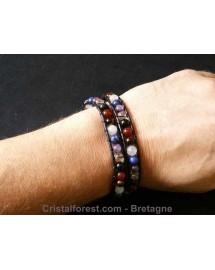 Bracelet boule 6 mm des 7 chakras