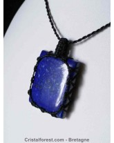 Pendentif macramé Lapis Lazuli 3,6 cm